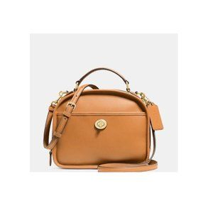Coach Lunch Sling Brown Leather Cross Body Bag